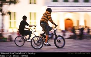 Panning Bikers